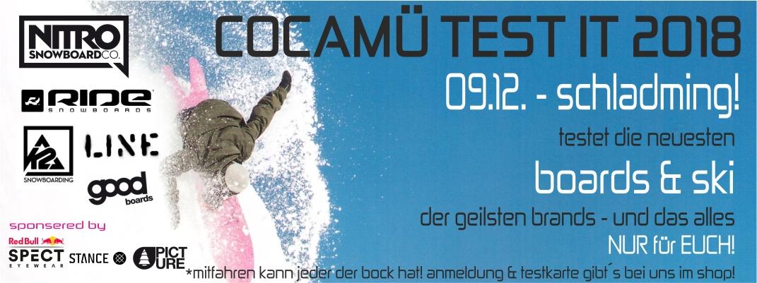 Anmeldung für TEST IT 09.12 Schladming